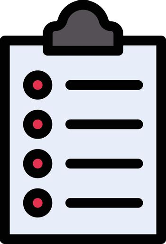 clipboard vector line colour icon