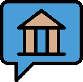 museum message vector line colour icon