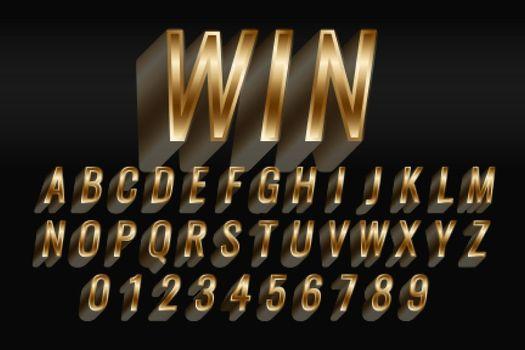 3d style golden text style effect set
