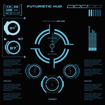 Futuristic blue virtual graphic touch user interface