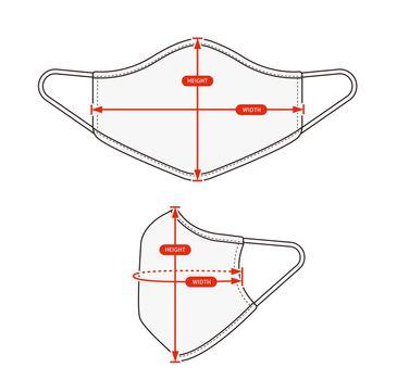 Clothing size chart vector illustration ( mask )