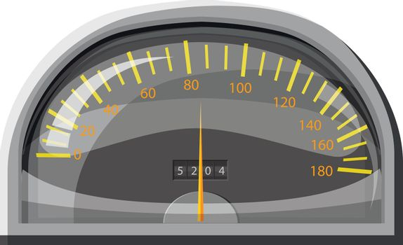 Speedometer for cars icon in cartoon style isolated on white background. Speed measurement symbol