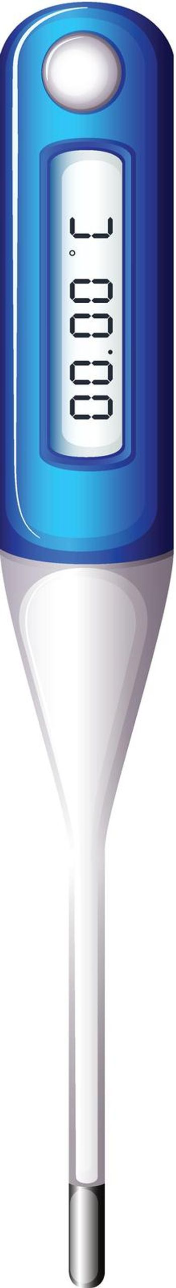 Illustration of a thermometer on a white background