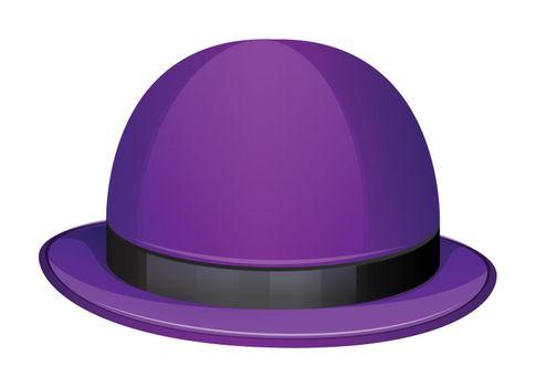 Illustration of a violet hat on a white background