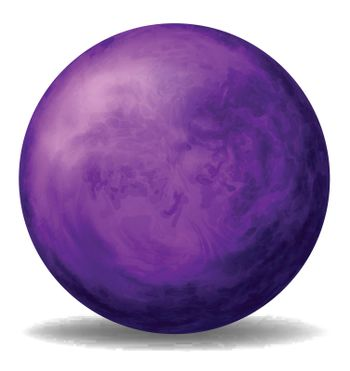 Illustration of a violet ball on a white background