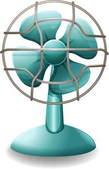 Close up plain design of electric fan