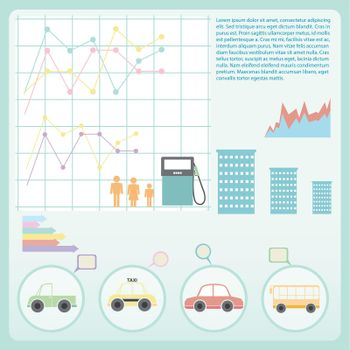 An infographics showing the fuel consumption