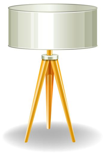 Modern lamp with yellow legs
