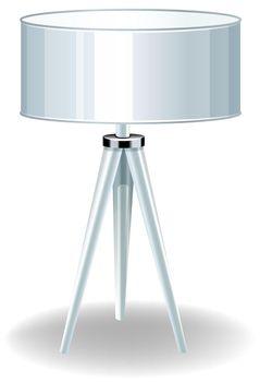 Close up modern design of lamp