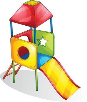Illustration of a colorful slide