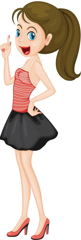 Illustration of a modern woman