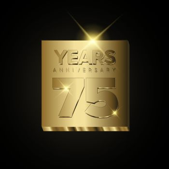 75 years golden anniversary card template - poster template of  invitation card for event party