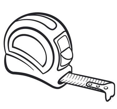 measuring tape black and white illustration design