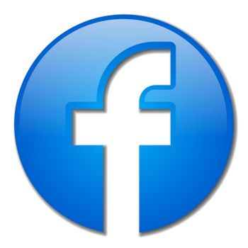 illustration of the facebook icon app on the white background