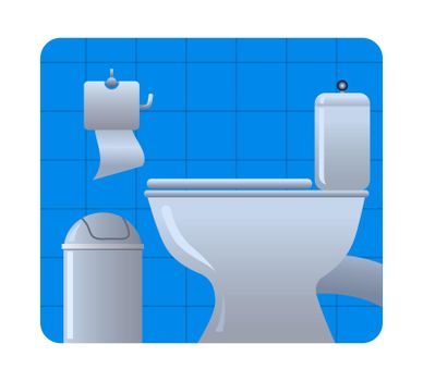 illustration of the toilet room interior icon