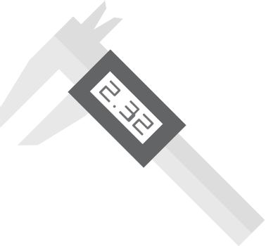 Digital caliper icon in flat color style. Instrument equipment measurement accuracy millimeter