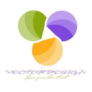 abstract icon, template for logo, emblem or brand, icon for banners, sites and applications. Simple style.