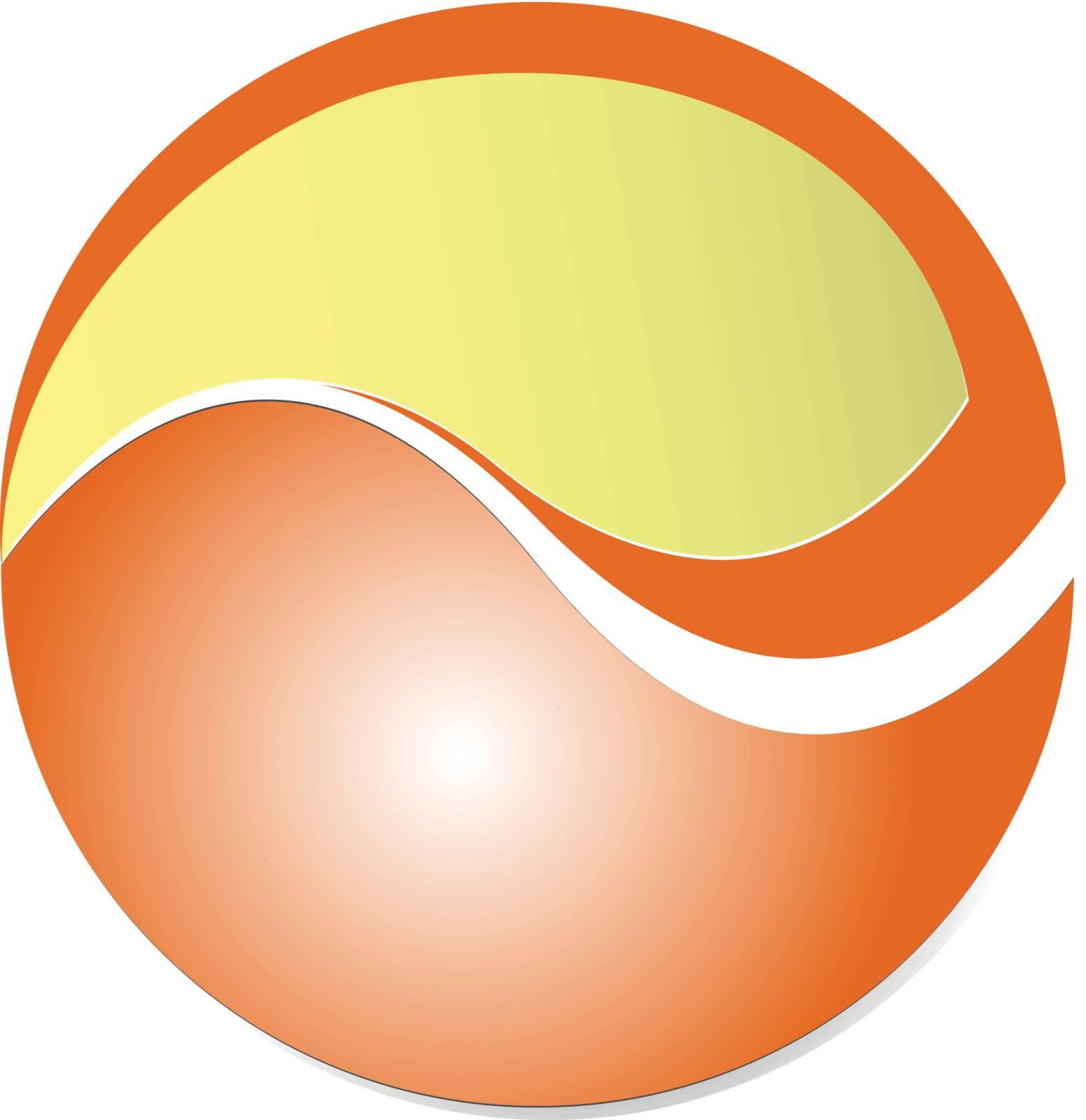 Logo, design element - orange circle, good for your business logo.