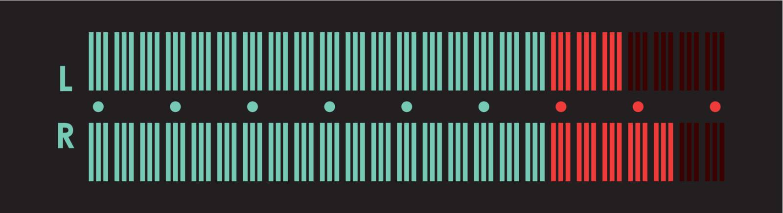 The indicator of the musical equipment. A vector illustration.