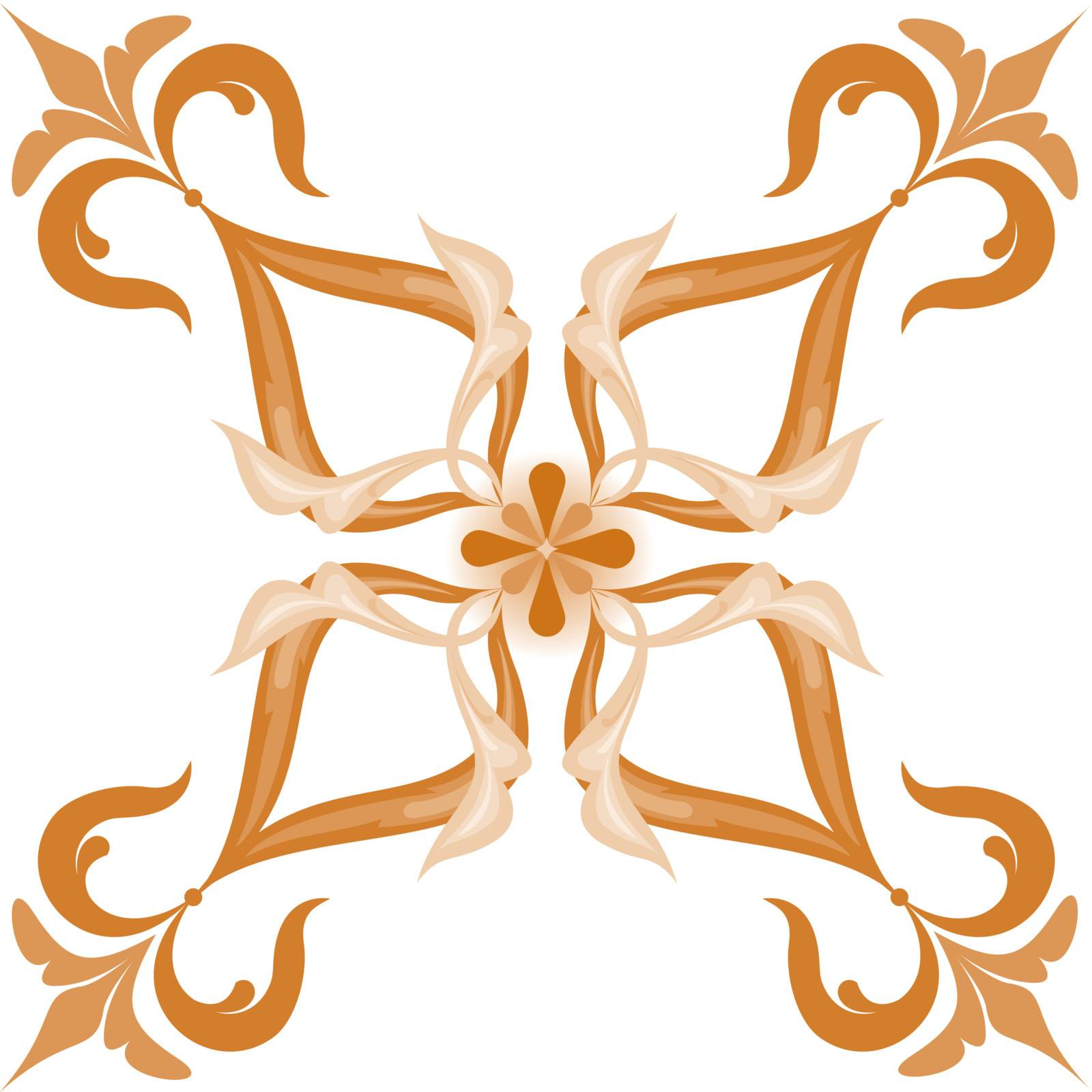 ornament on a white background