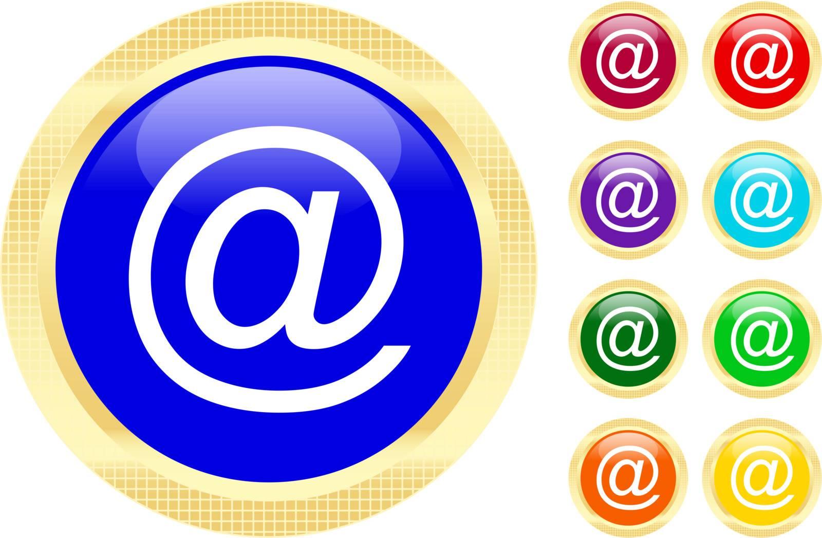 E-mail symbol on shiny buttons