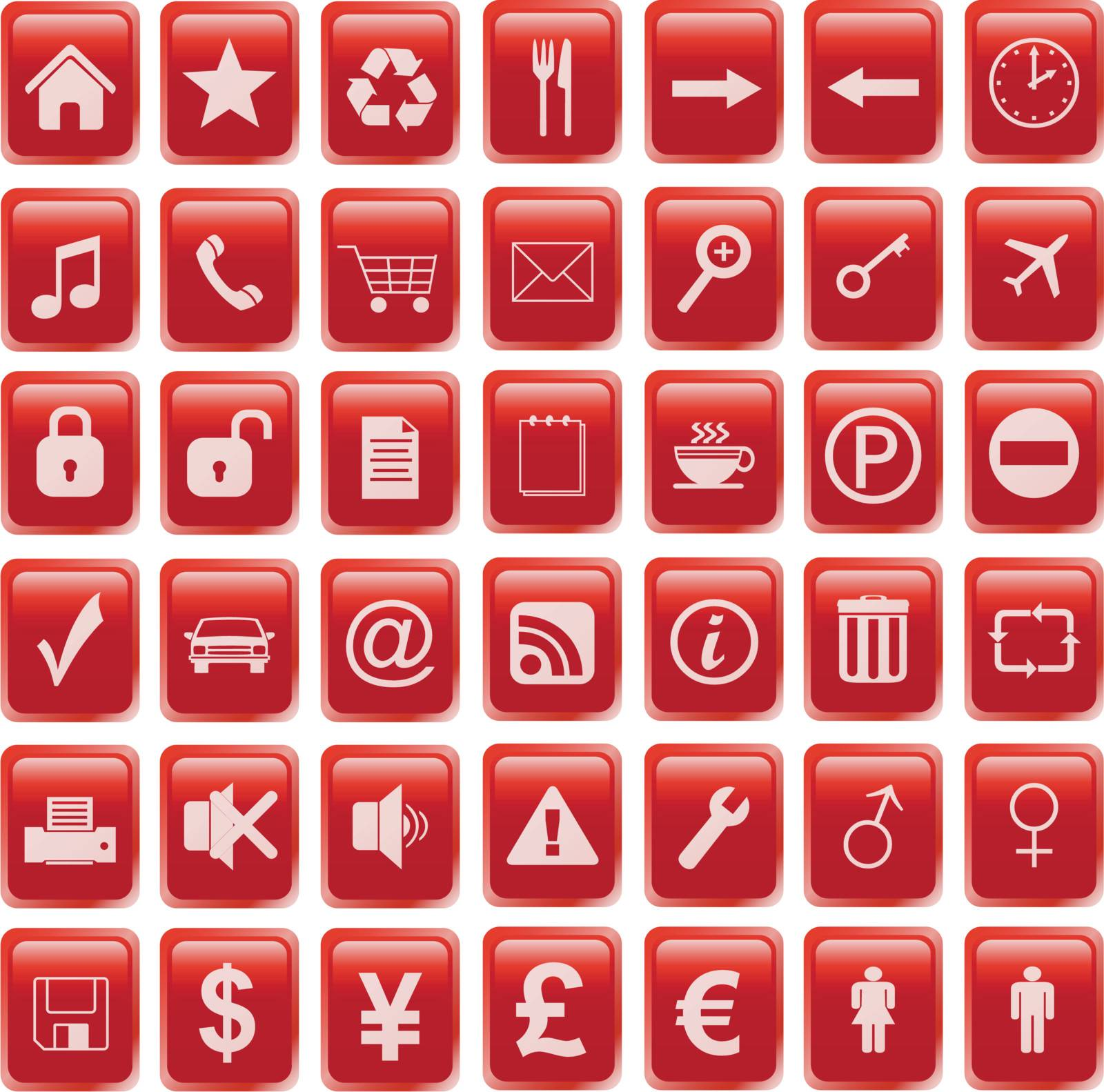 red icons set