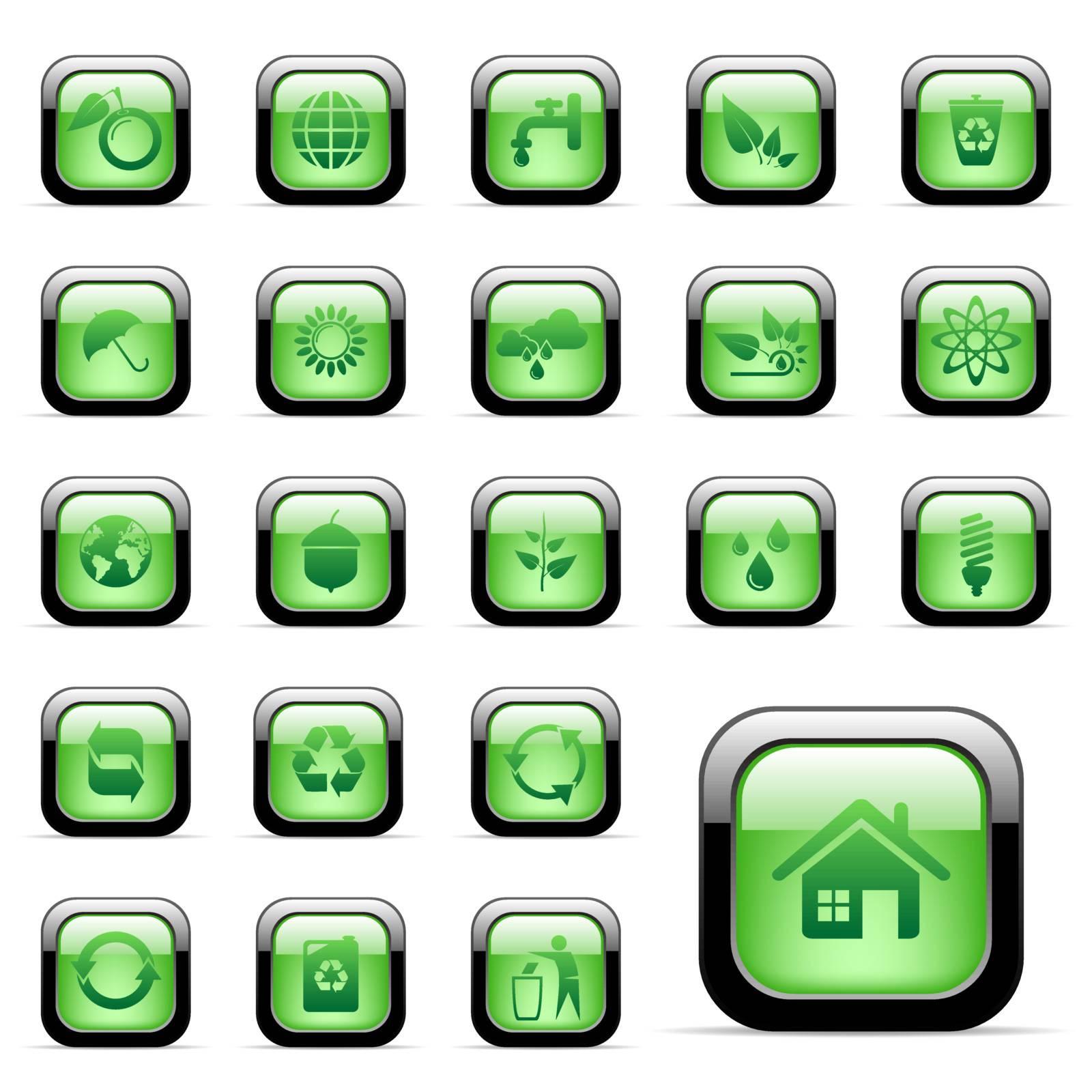 Vector - 23 environmental icons for web design
