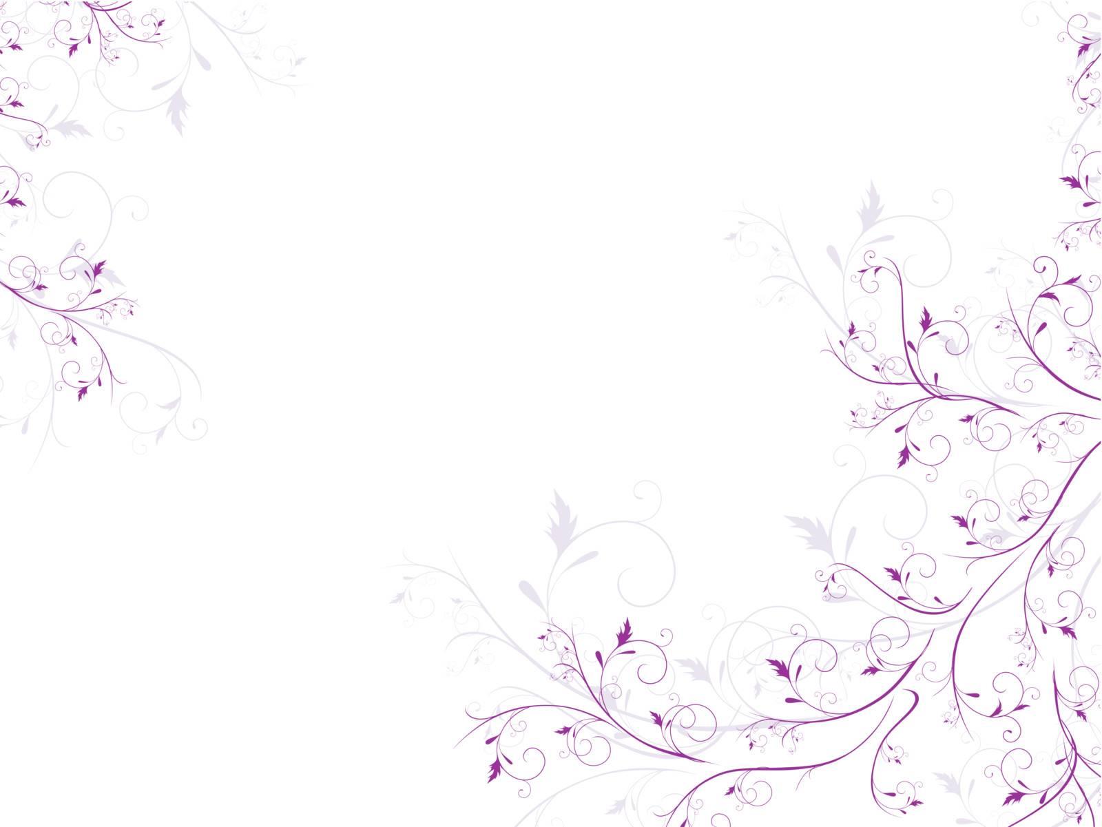illustration of floral frame with swirls in violet