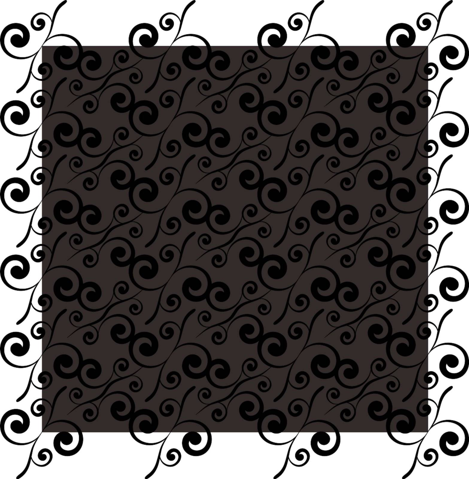 Black and grey seamless tile background