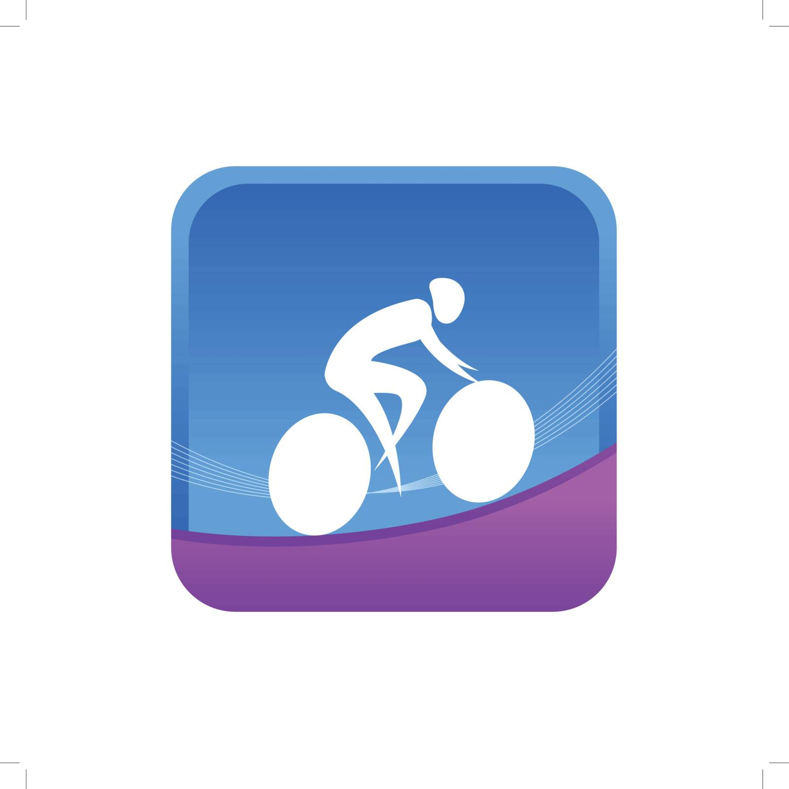 human on a cycling game