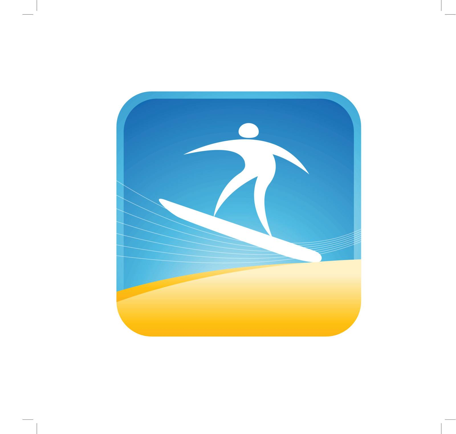 human balancing on a surf board