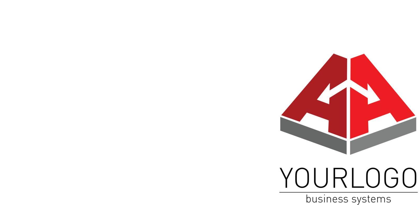 Business, elegant logo vector render