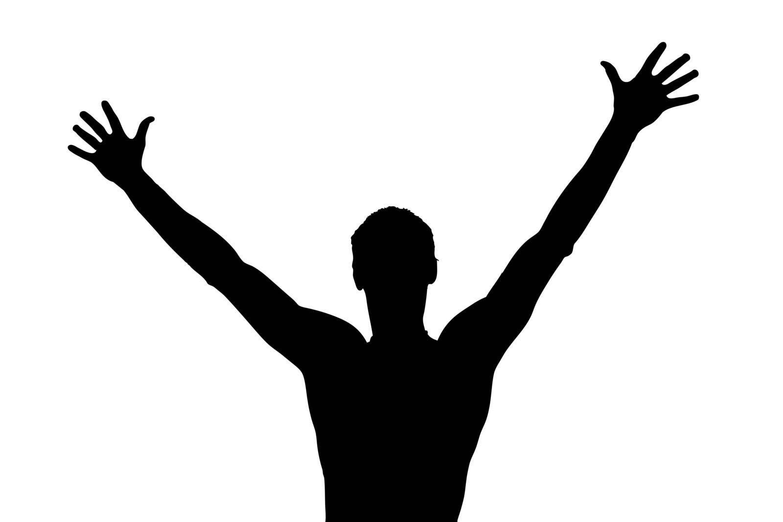 picture a guy who raised his hands up