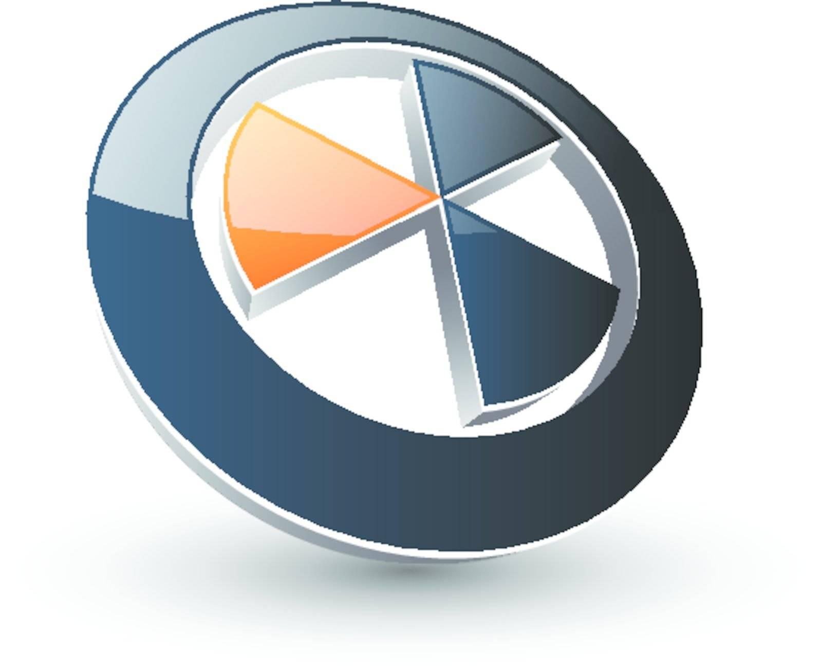 Logo abstract symbol black and orange,vector.
