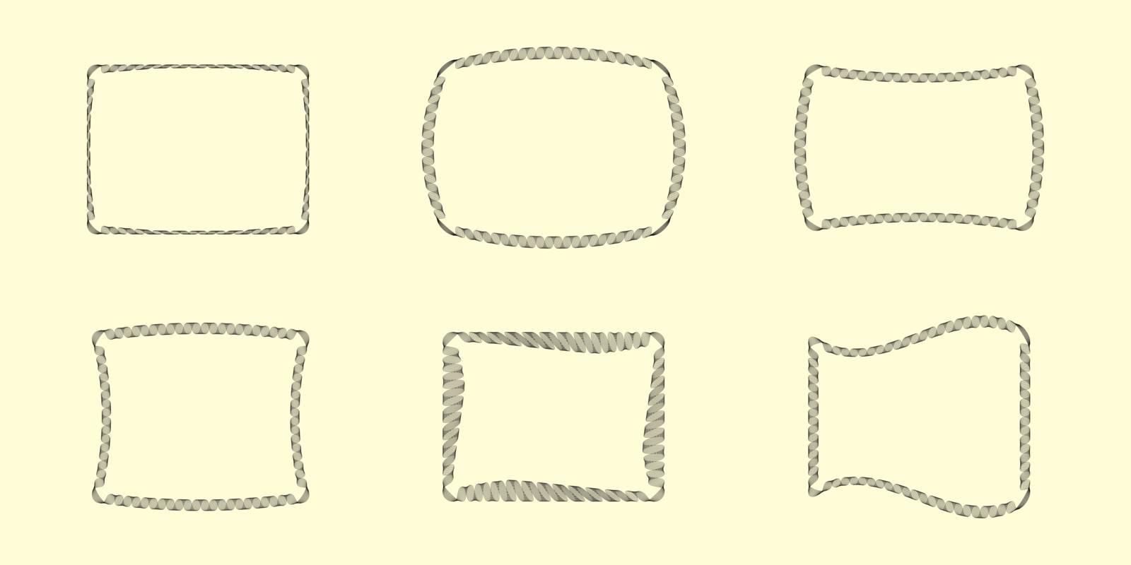 Six Vector Guilloche Borders (all stroke widths are editable)