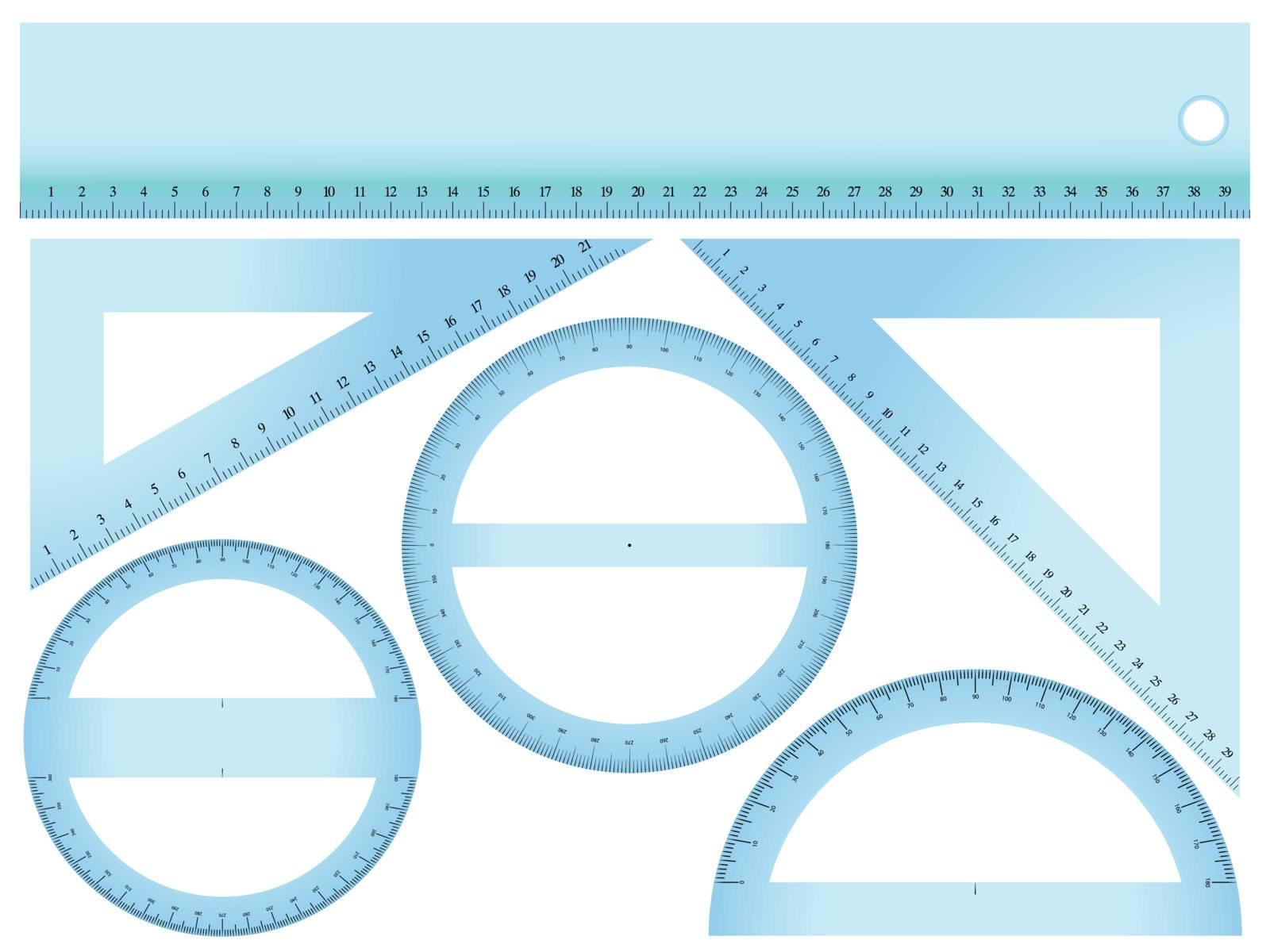 measurement set against white background, abstract vector art illustration