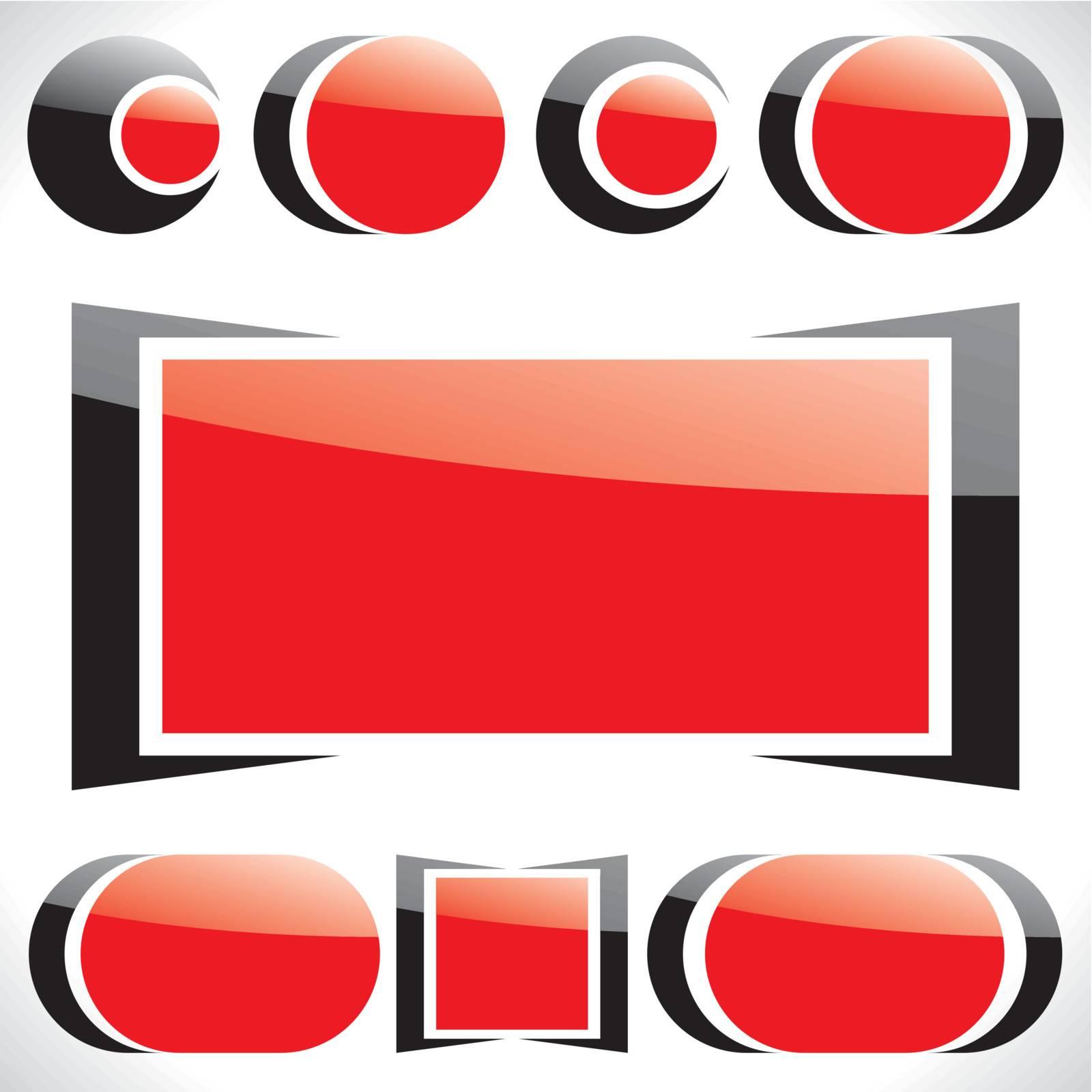 Set of symbols for design. Vector Illustration.