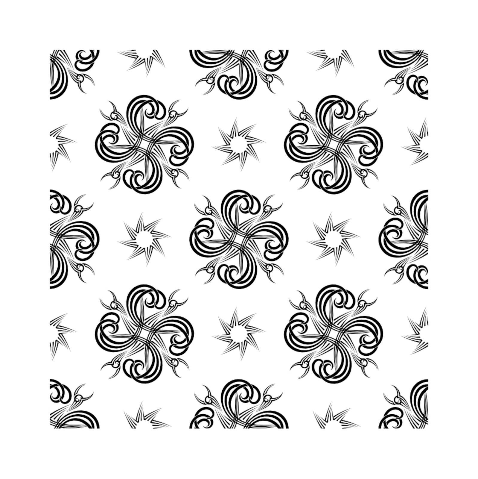 seamless repeating black and white tattoo designed background