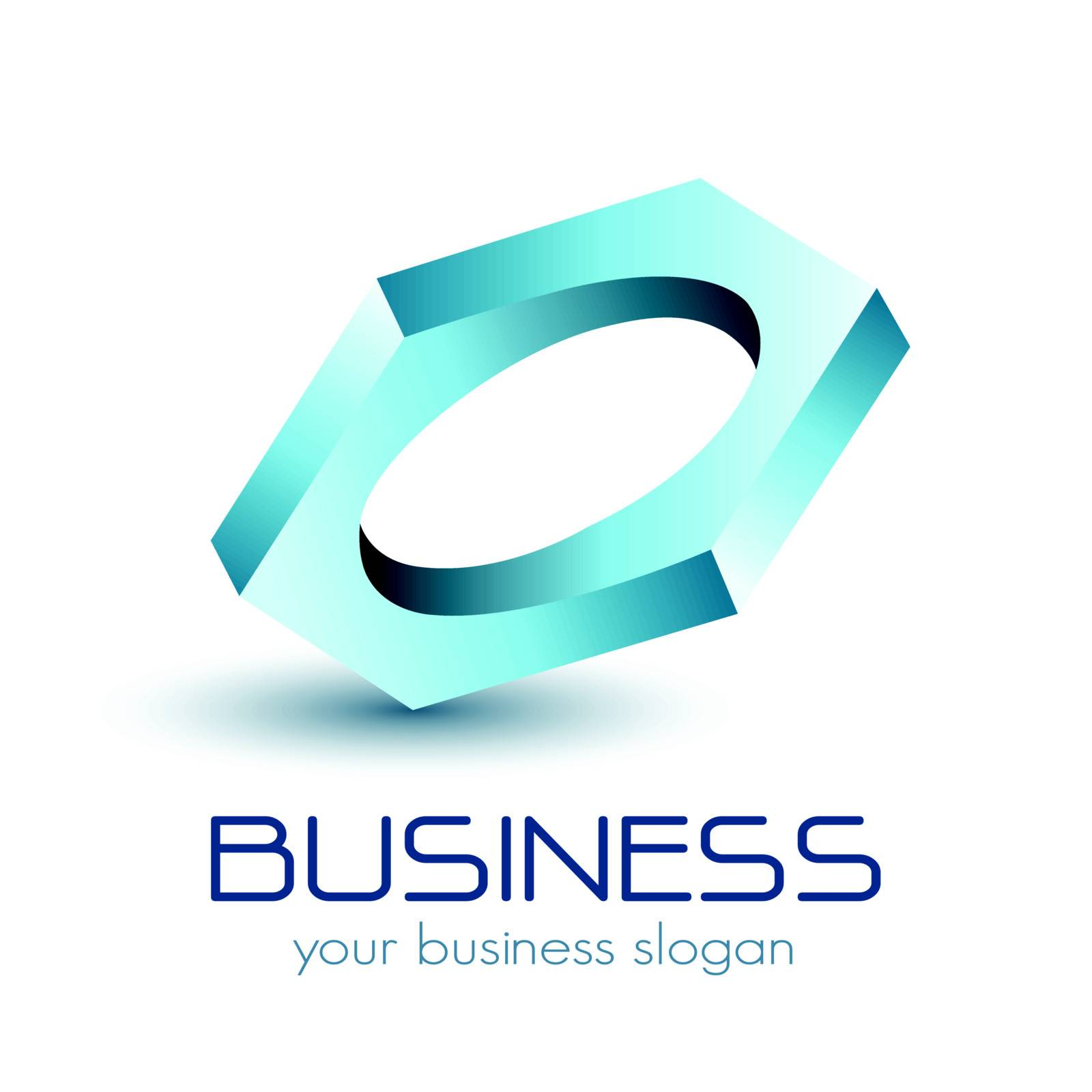 Logo business, impossible vector object.