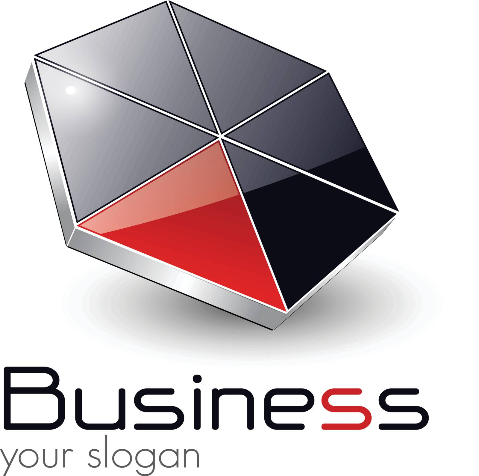 Logo design for business black red, vector.