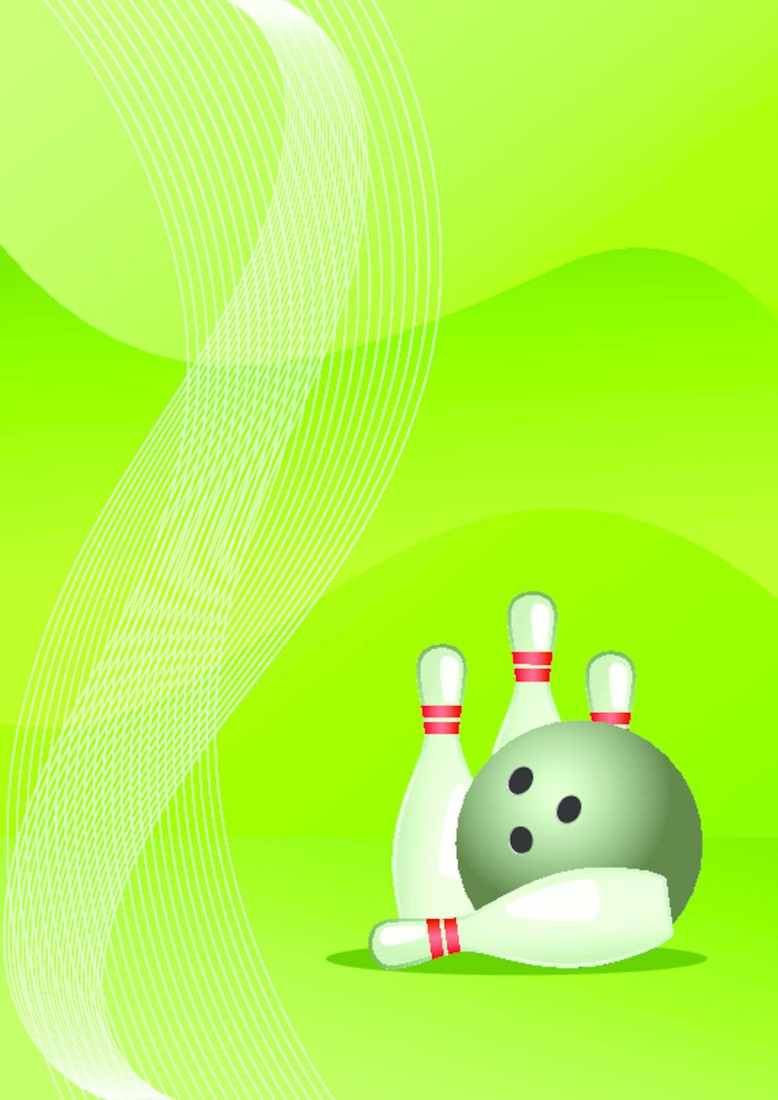 Vector illustration of bowling vector, abstract sport background