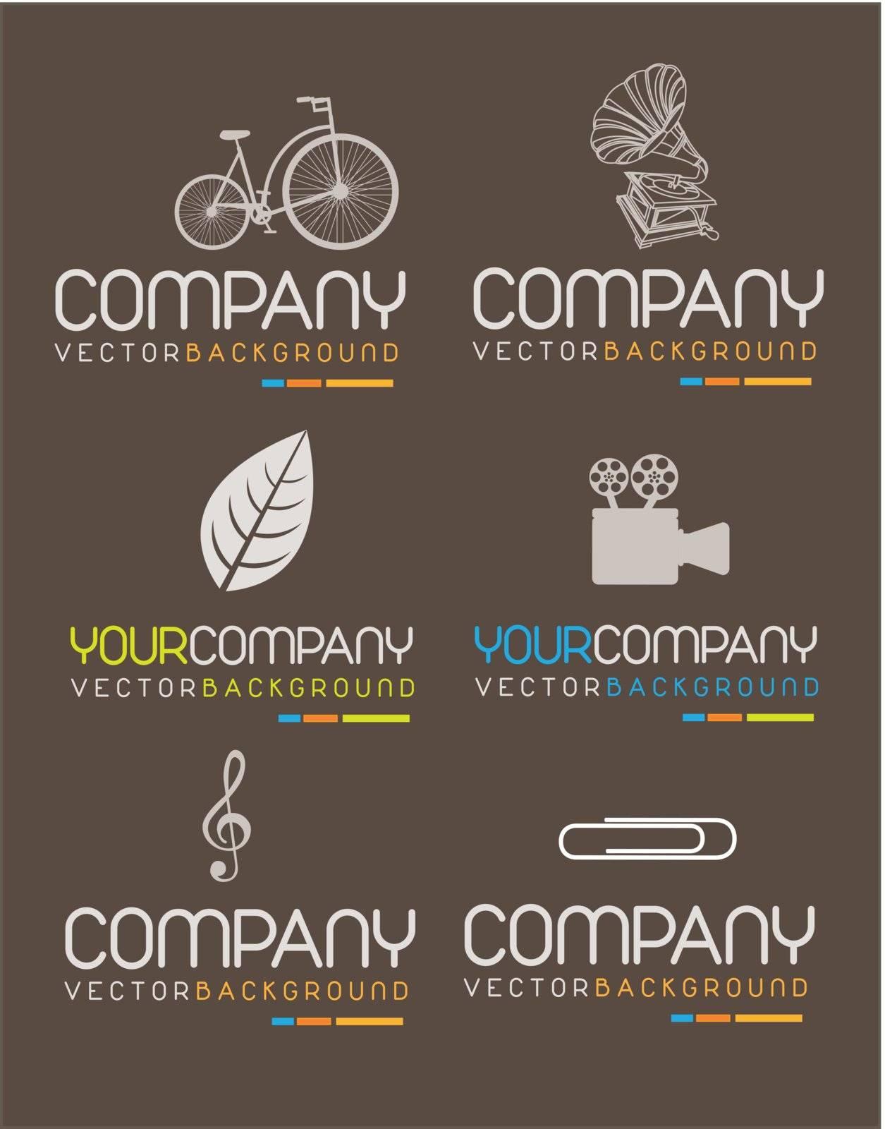 various symbols of company. Vector illustration