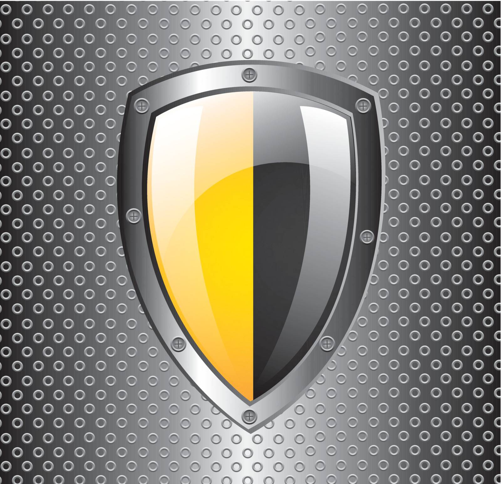 Guard icon over grill background vector illustration