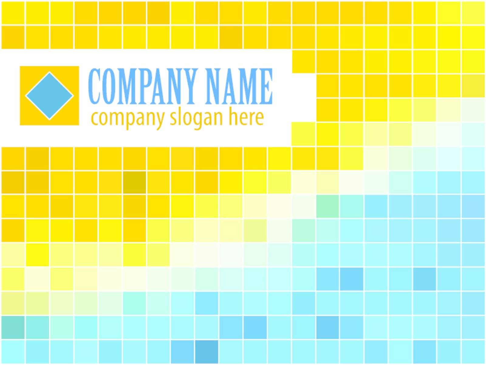Blue and orange vector template