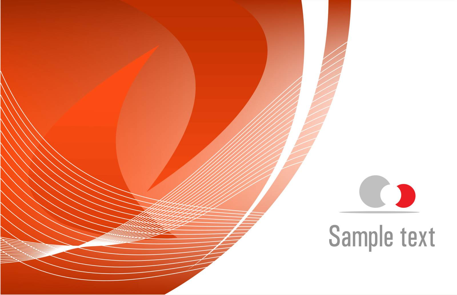 Red vector template