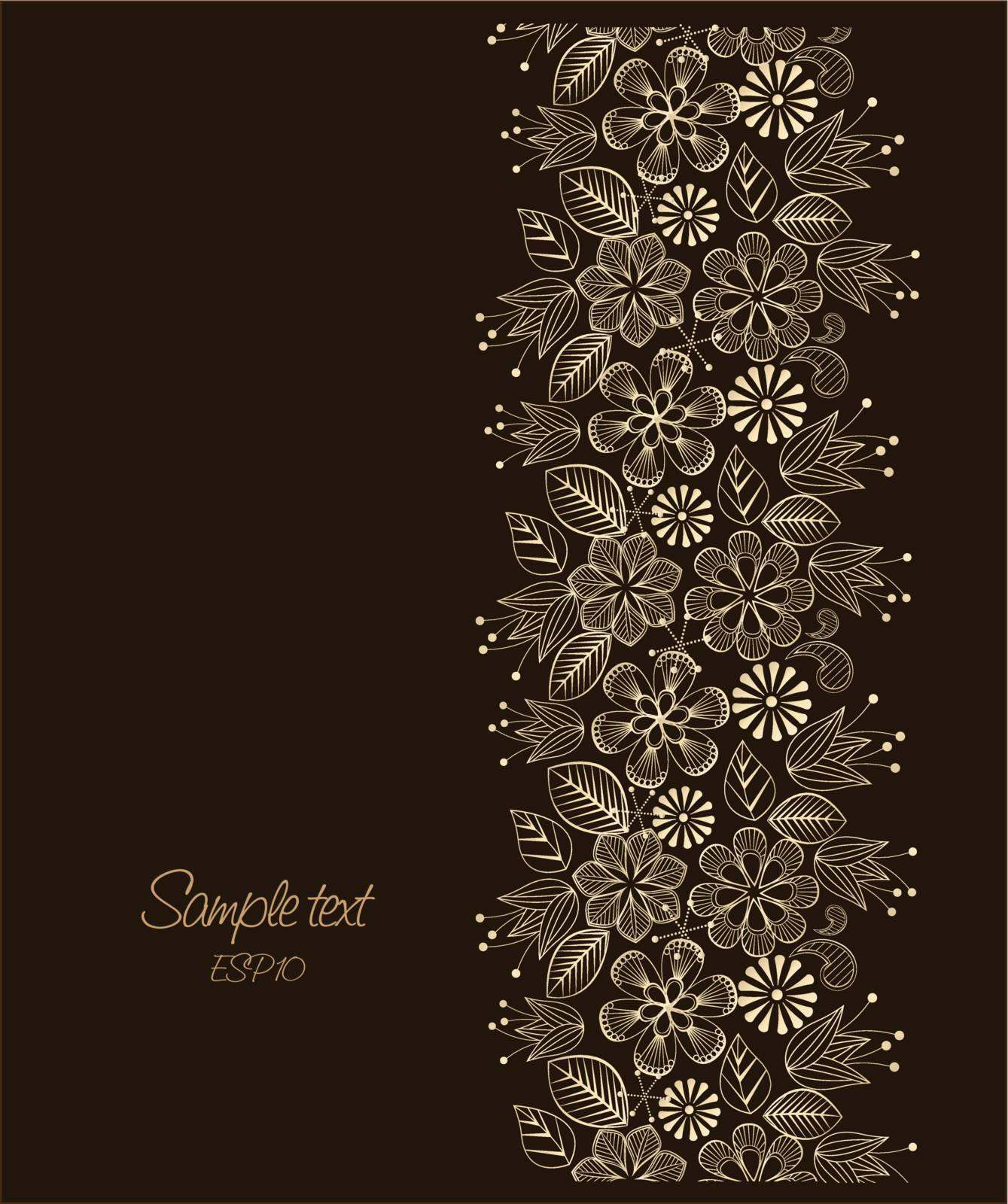 Beauty floral illustration, place for your text