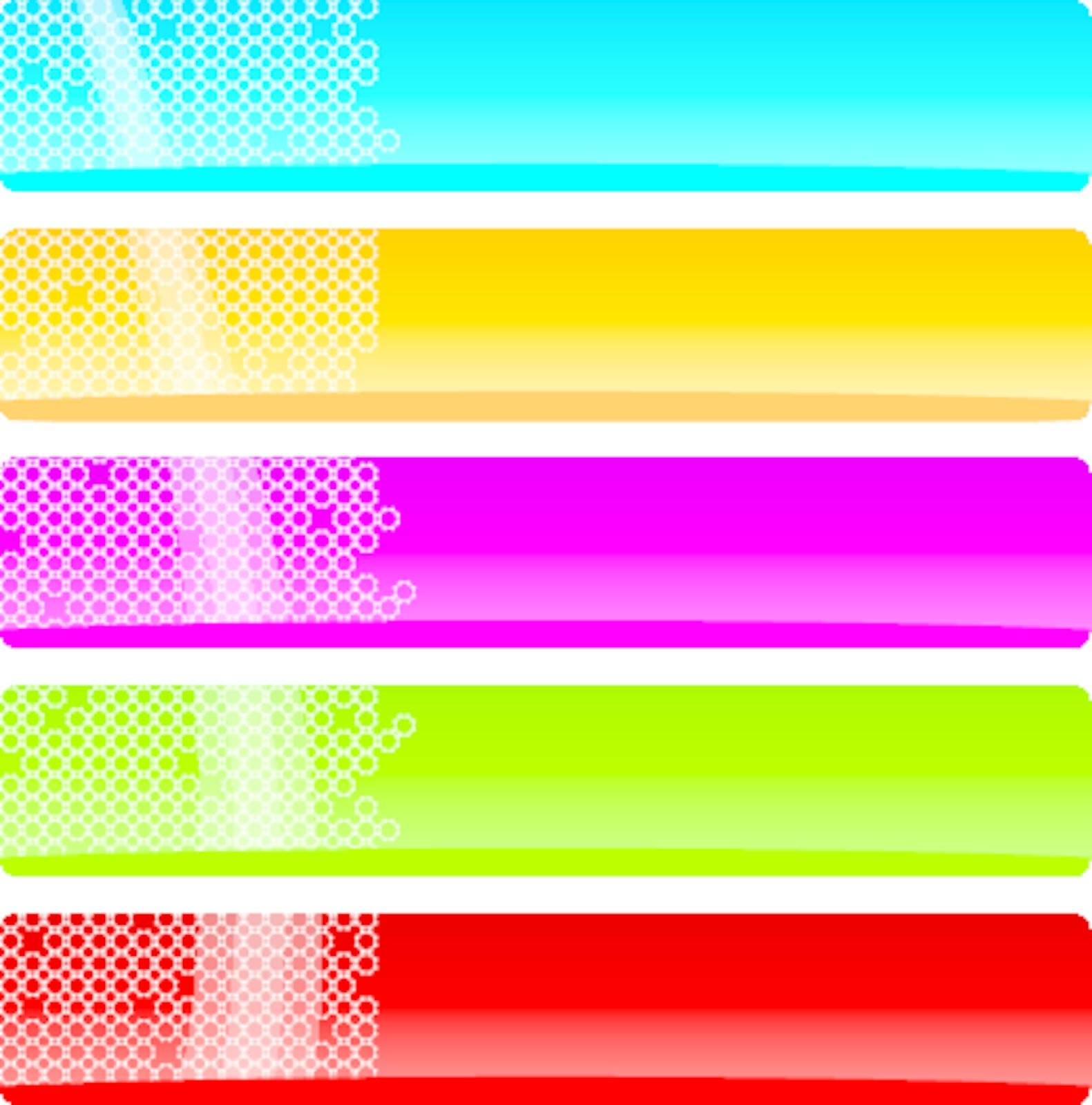 set colorful banners with place for text