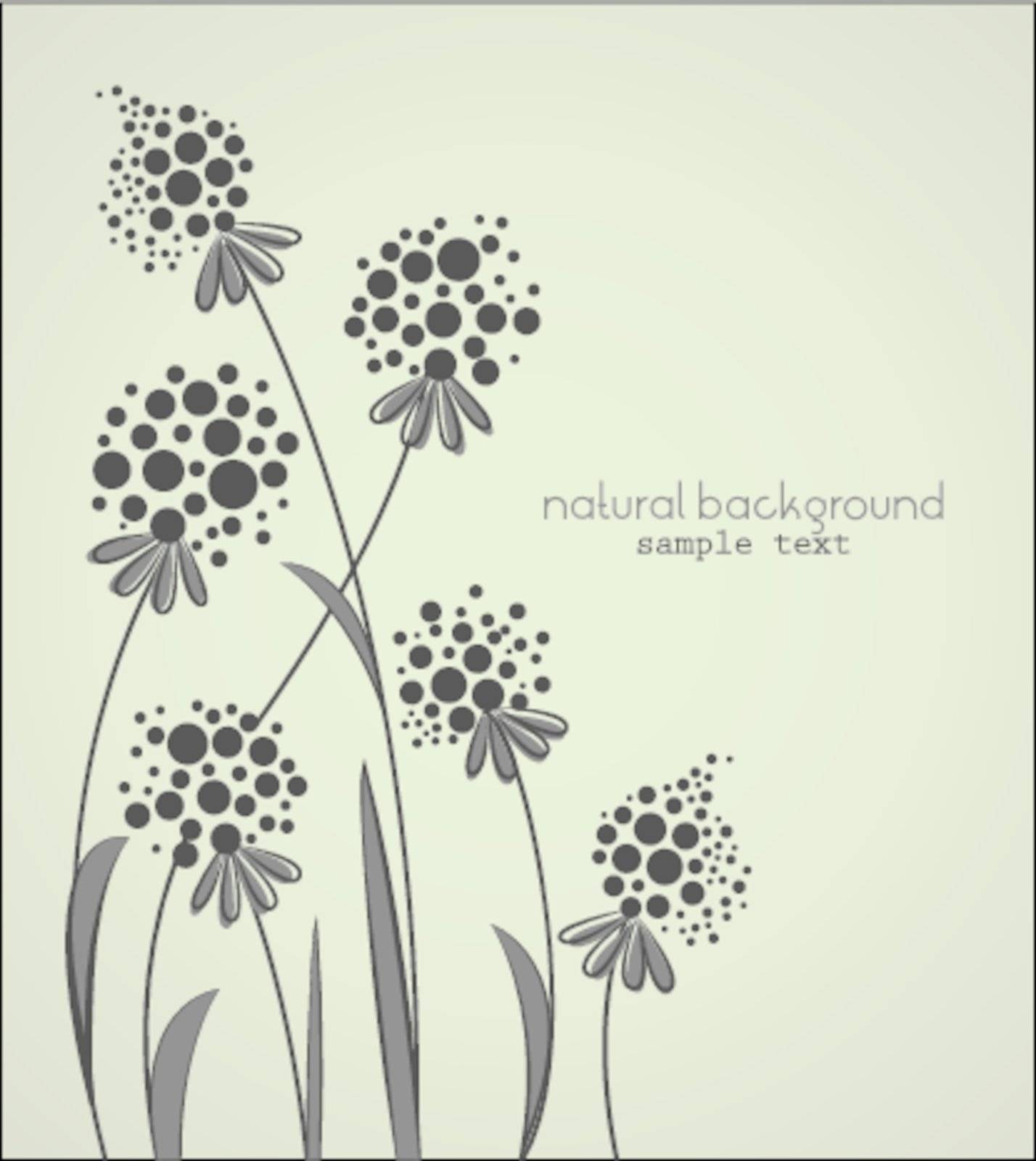 Floral abstract vector background with space for text
