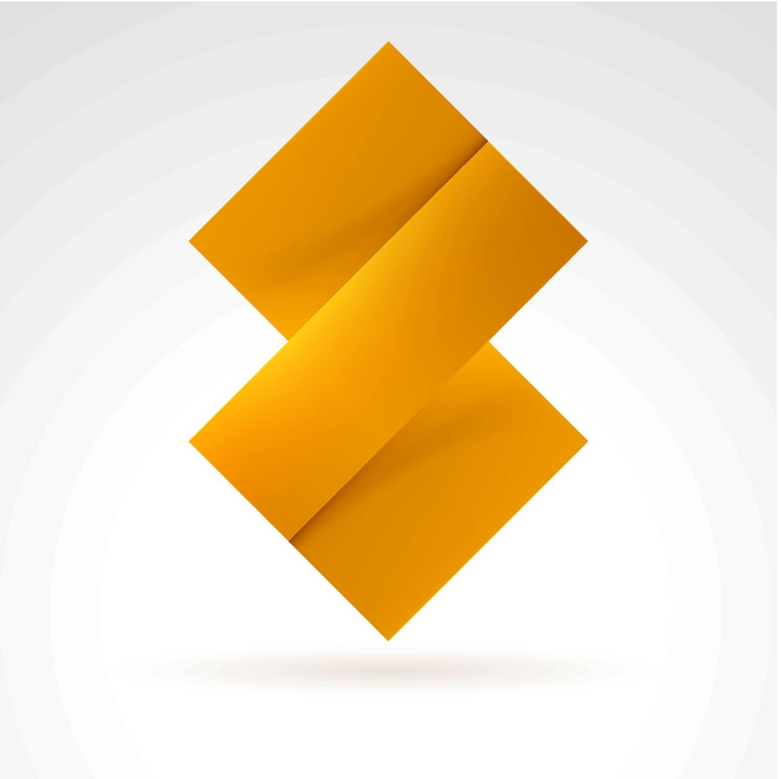 Abstract Orange Tile. Illustration on white for design