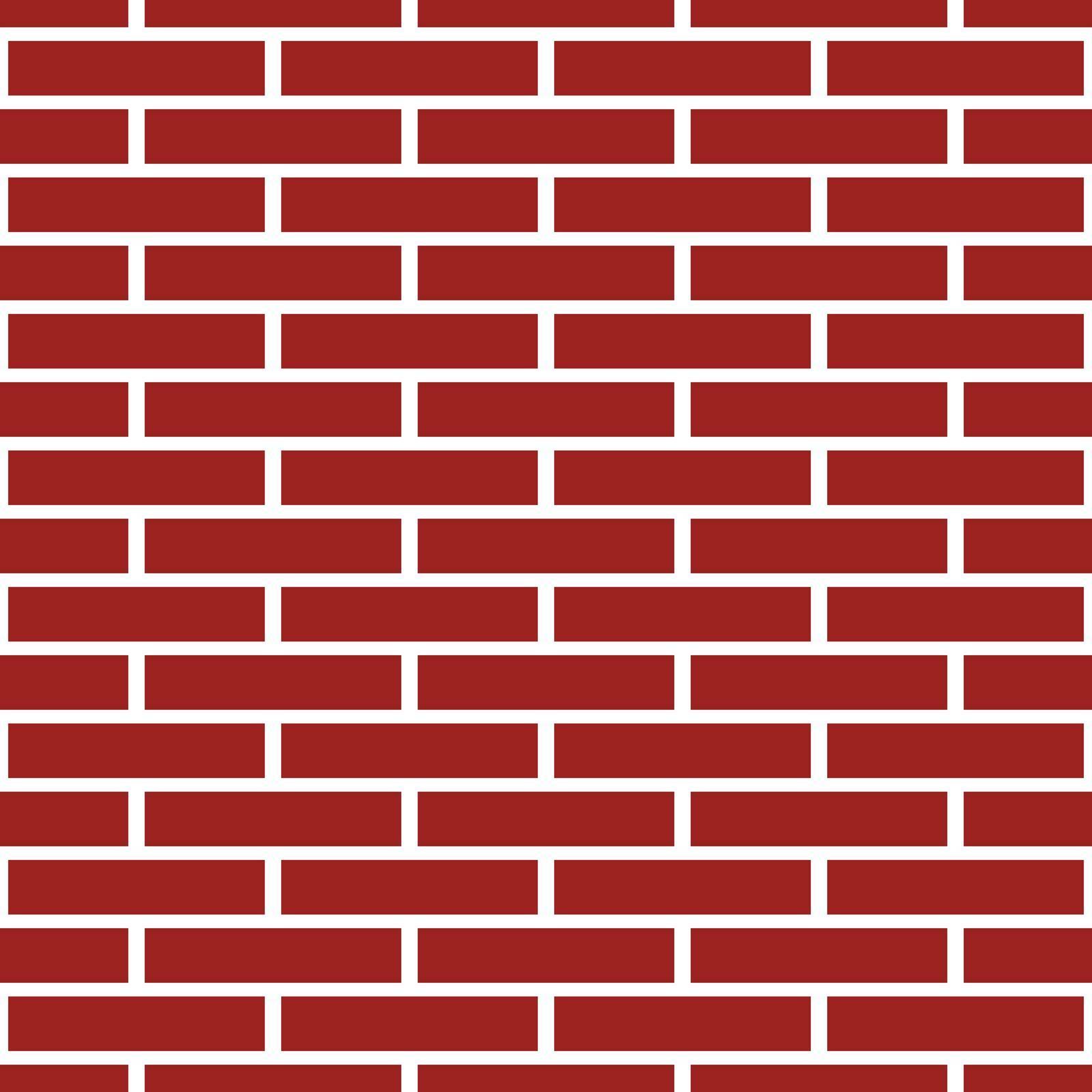 Deep red brick wall seamless pattern, modern design.